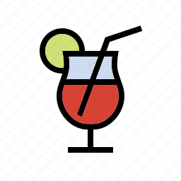 alcohol, booze, drink, food, lemon, lime, tropical icon