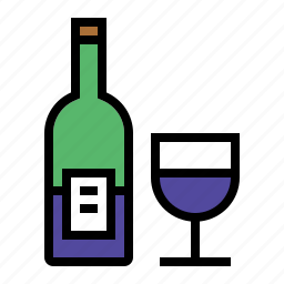 alcohol, booze, bottle, drink, food, glass, wine icon