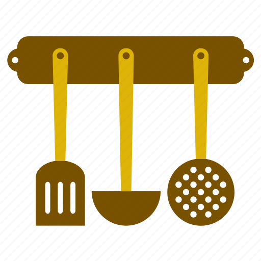kitchen, kitchenware, ladle, slotted, spoon, turning spatula, utensil icon