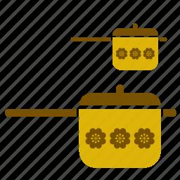 accessory, casserole, equipment, kitchen, kitchenware, pot, retro icon