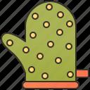 glove, mitten, oven, potholder, protection icon
