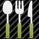 cutlery, dinnerware, fork, knife, spoon