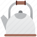 boiling, hot, kettle, kitchen, water icon
