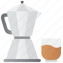 coffee, espresso, italian, moka, pot icon