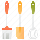 brush, pastry, spatula, utensils, whisk icon