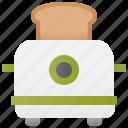 appliance, bread, breakfast, grill, toaster