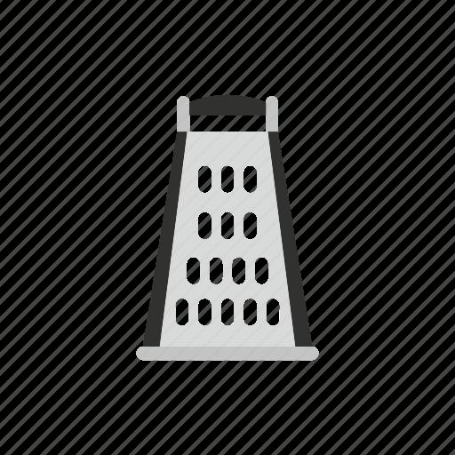 background, equipment, food, grater, kitchen, steel, utensil icon
