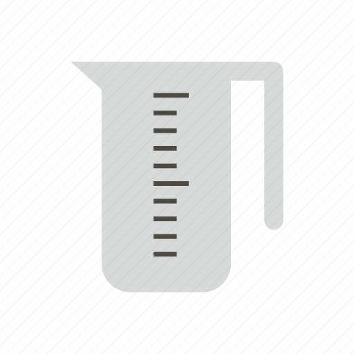 background, cup, equipment, kitchen, liquid, long, measuring icon