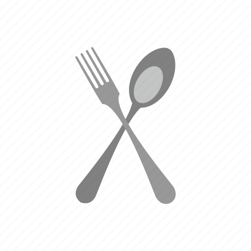 background, dining, fork, kitchen, lunch, menu, spoon icon