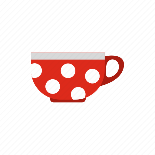 background, breakfast, cafe, cup, dot, hot, polka icon