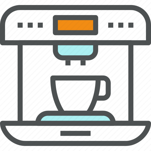 coffee, coffeemaker, cook, espresso, latte, machine, maker icon