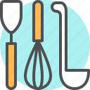 appliance, cutlery, dishware, kitchen, mixer, spoon, utensil icon