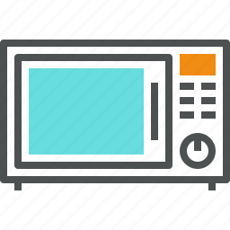 appliance, cooking, heat, kitchen, microwave, oven, wave icon