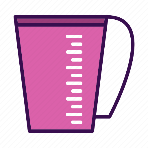 cup, drink, kitchen, measuring icon