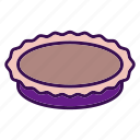 cooking, food, kitchen, pie, plate icon