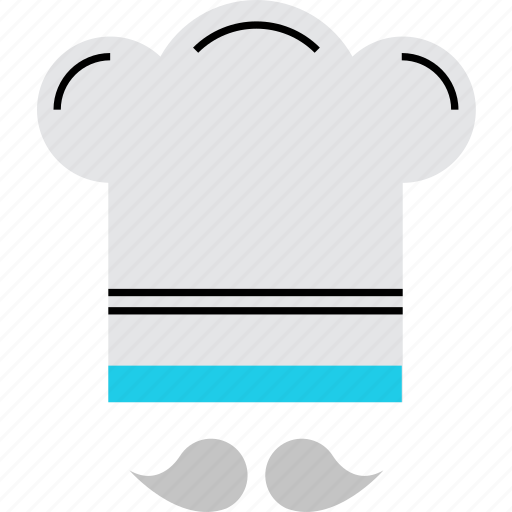 chef, chief, cook, cooker, hat, kitchen, mustache icon