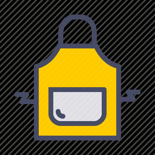 apron, cook, kitchen, restaurant, safety, wear icon