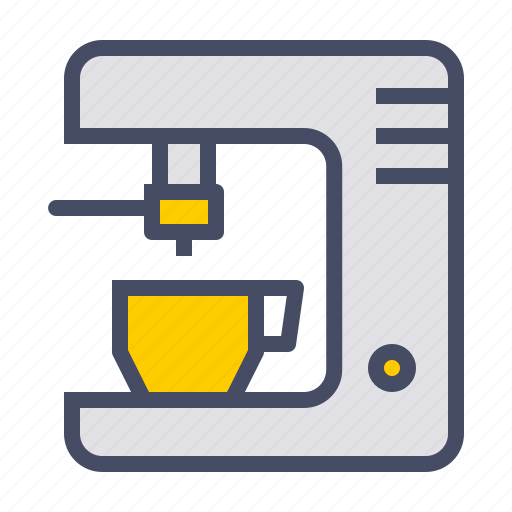 appliance, coffee, cup, kitchen, maker, utility icon