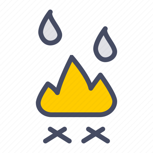 burn, camping, cook, fire, fireplace, kitchen, outdoors icon