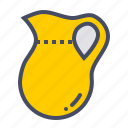 jar, jug, kitchen, pitcher, serve, water icon