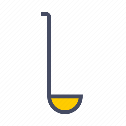 cook, kitchen, laddle, soup, utensil icon