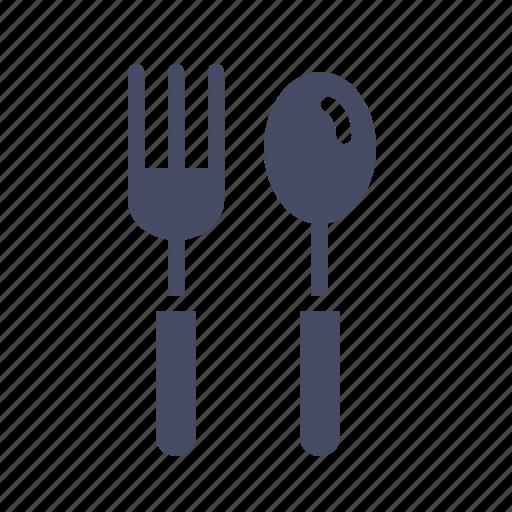cutlery, eat, food, fork, spoon, tableware, utensil icon