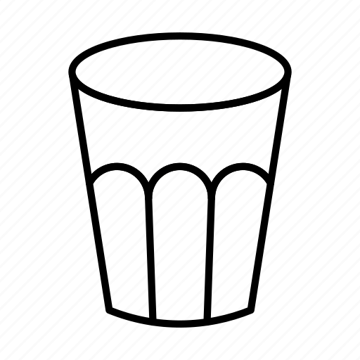 alcohol, drink, glassful, water, water glass icon