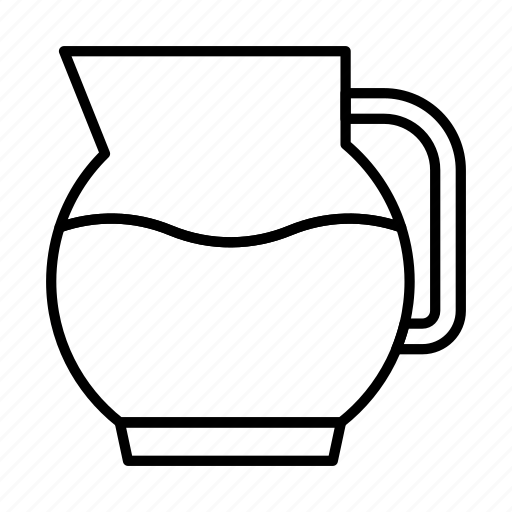 carafe, jug, pitcher, water, wine icon