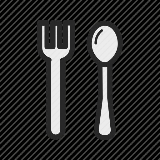food, fork, kitchen, kitchenware, spoon icon