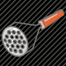 kitchen, mash, masher, potato, utensil icon