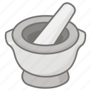 bowl, grinder, grinding, ground, herb, mortar, pestle icon