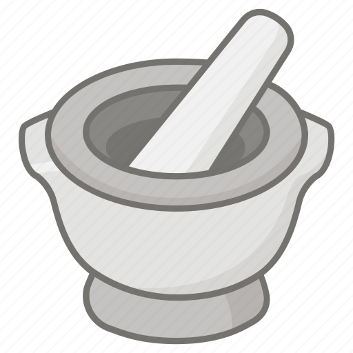 bowl, grinder, grinding, ground, herb, mortar, pestle icon