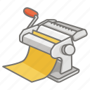 crank, hand, homemade, machine, maker, making, pasta icon