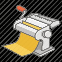 crank, hand, homemade, machine, maker, making, pasta icon