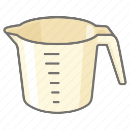 cooking, cup, ingredient, measure, measurement, measuring icon