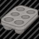 baking, muffin, cupcake, tin, cake, tray icon