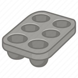 baking, cake, cupcake, muffin, tin, tray icon