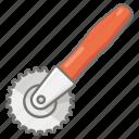 cookware, cutter, kitchen, pastry, utensil, wheel