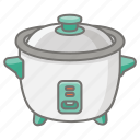 slow, cooker, pot, cooking, appliance, hot, rice