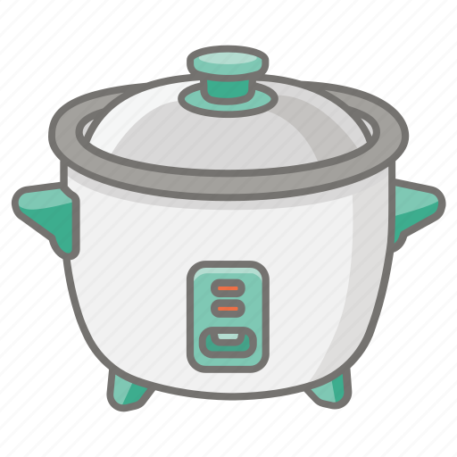 appliance, cooker, cooking, hot, pot, rice, slow icon