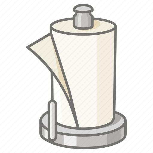 cleaning, holder, kitchen, paper, towel icon