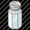 condiment, pepper, pot, salt, shaker
