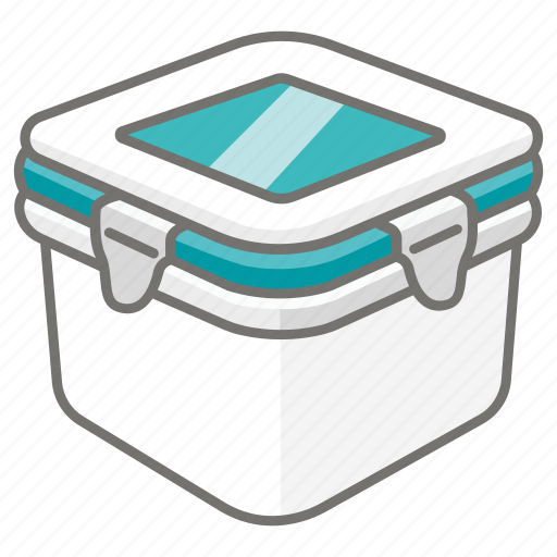 box, container, food, plastic, storage icon