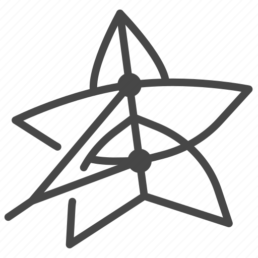 Flown, flying, kite, star-shaped, toy icon - Download on Iconfinder