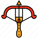 crossbow, arrow, weapon, archer, medieval, antique