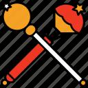magic, wand, star, trick, magician, stick