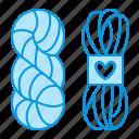 cotton, knitting, wool, yarn icon