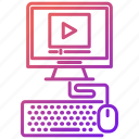 education, knowledge and education, online, tutorial, video icon