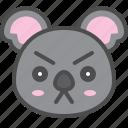 angry, australia, avatar, cute, face, koala