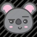 australia, avatar, cute, face, koala, smirk icon